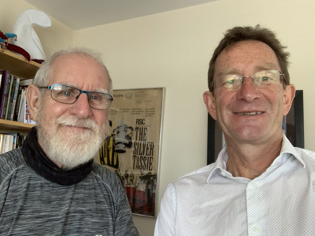 Richard Moore and myself after Richard's interview for the 44@60 podcast.